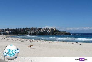 Bondi Beach reparte suerte Mon Wed Lotto